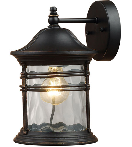 ELK Lighting Madison 1 Light Outdoor Sconce in Matte Black 08162-MBG
