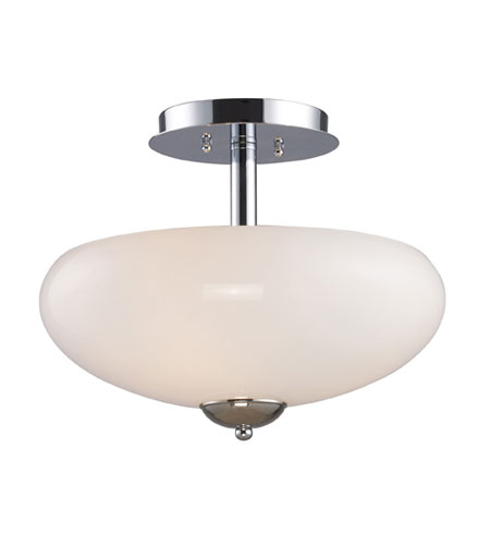 ELK Lighting Lanza 3 Light Semi-Flush Mount in Polished Chrome 10005/3 photo