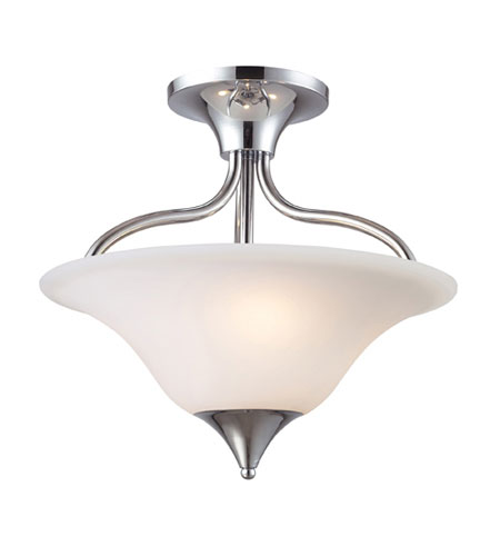 ELK 10014/3 Cabaret 3 Light 18 inch Polished Chrome Semi-Flush Mount Ceiling Light photo