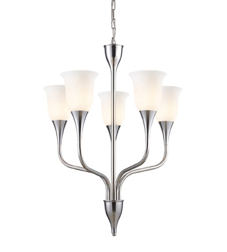 ELK Lighting Cabaret 5 Light Chandelier in Polished Chrome 10017/5 photo