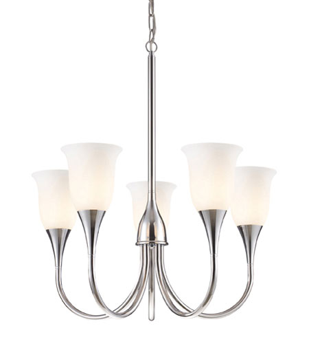ELK Lighting Cabaret 5 Light Chandelier in Polished Chrome 10018/5 photo