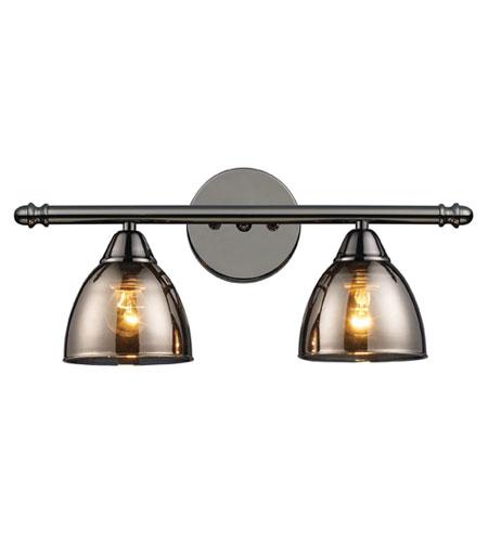 Bathroom Vanity Lights In Black : ELK Lighting Reflections 2 Light Vanity in Black Chrome 10051/2