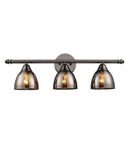 Elk Lighting Reflections 3 Light Vanity In Black Chrome 10052