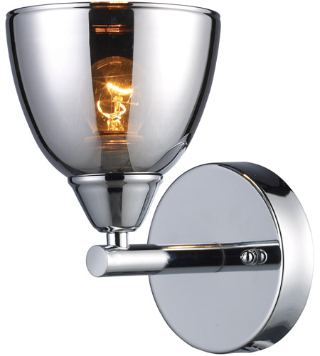 ELK Lighting Reflections 1 Light Vanity in Polished Chrome 10070/1