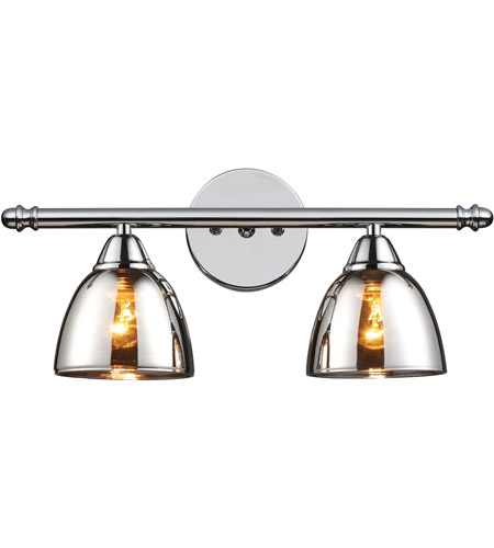 ELK 10071/2 Reflections 2 Light 18 inch Polished Chrome Vanity Wall Light photo