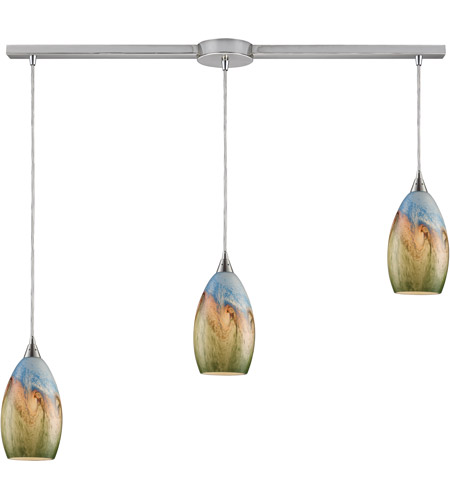 ELK Lighting Geologic 3 Light Pendant in Satin Nickel 10077/3L photo