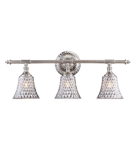 ELK Lighting Victoriana 3 Light Vanity in Satin Nickel 10082/3