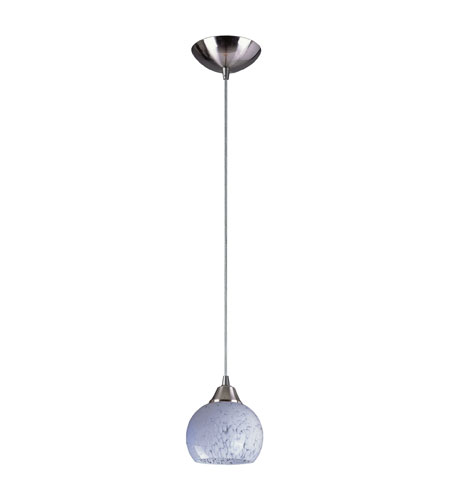 ELK 101-1SW Mela 1 Light 6 inch Satin Nickel Pendant Ceiling Light in Incandescent, Snow White Glass, Standard photo