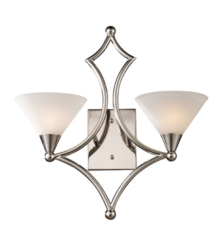 ELK Lighting Gilcrest 2 Light Sconce in Polished Nickel 10103/2 photo