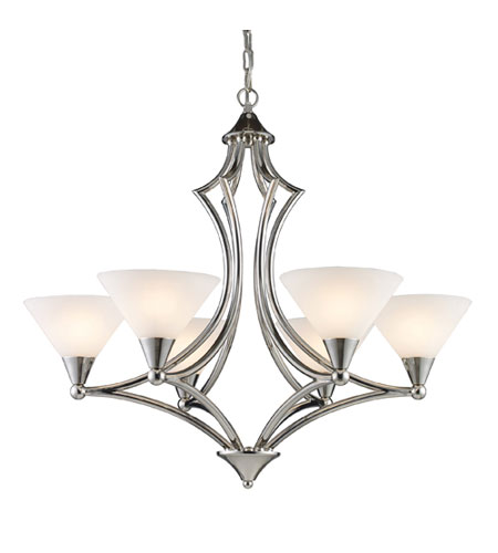 ELK Lighting Gilcrest 6 Light Chandelier in Polished Nickel 10104/6 photo