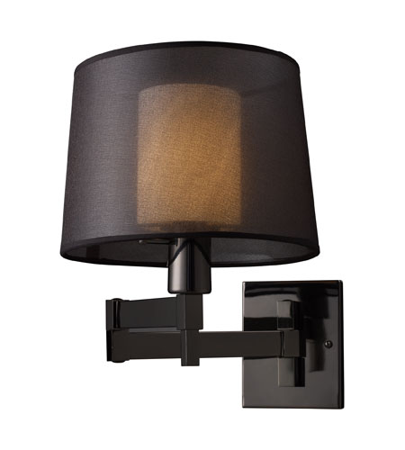 ELK Lighting Swingarm 1 Light Swingarm Sconce in Black Chrome 10110/1 photo