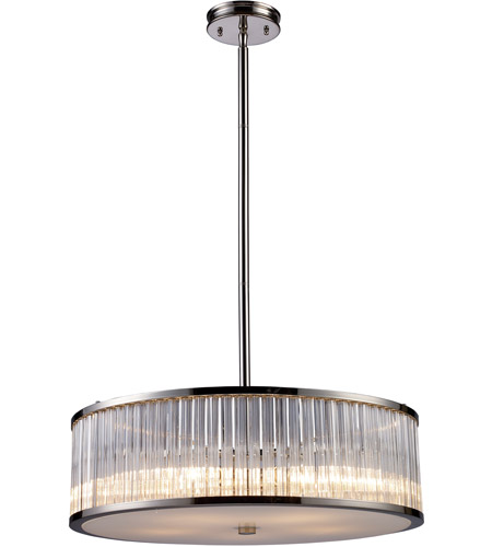 ELK 10129/5 Braxton 5 Light 24 inch Polished Nickel Pendant Ceiling Light photo