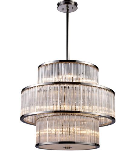 ELK Lighting Braxton 15 Light Pendant in Polished Nickel 10130/5+5+5 photo