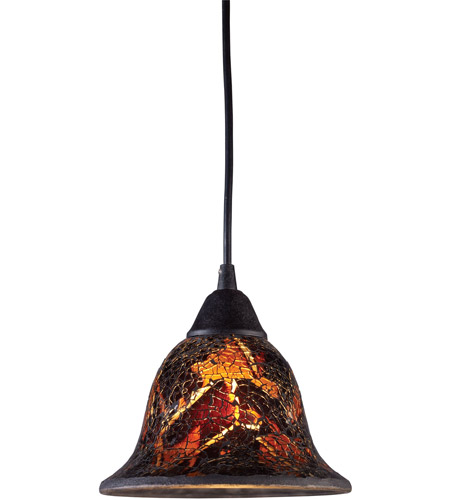 ELK 10144/1FS Firestorm 1 Light 7 inch Dark Rust Pendant Ceiling Light in Incandescent, Standard photo