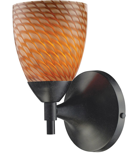 ELK 10150/1DR-C Celina 1 Light 6 inch Dark Rust Sconce Wall Light in Standard, Cocoa Glass photo