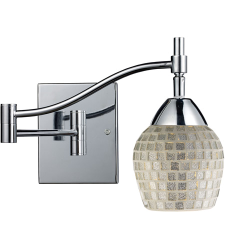 ELK 10151/1PC-SLV Celina 22 inch 60 watt Polished Chrome Swingarm Wall Light in Standard, Silver Mosaic Glass photo