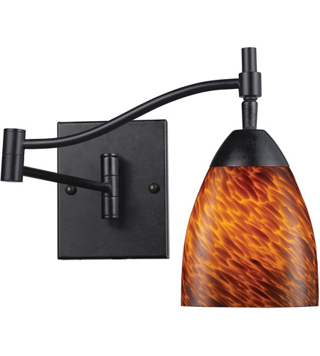ELK 10151/1DR-ES Celina 22 inch 60 watt Dark Rust Swingarm Wall Light in Standard, Espresso Glass photo