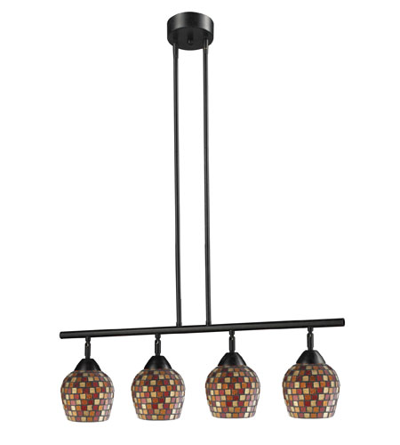 ELK Lighting Celina 4 Light Island Light in Dark Rust 10153/4DR-MLT