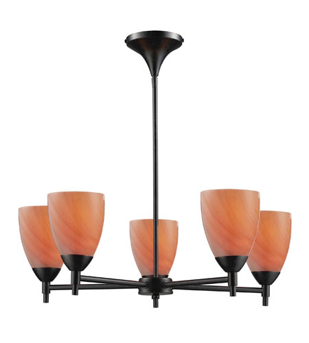 ELK Lighting Celina 5 Light Chandelier in Dark Rust 10155/5DR-SY photo