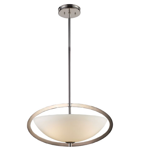 ELK Lighting Dione 3 Light Pendant in Polished Nickel 10157/3 photo