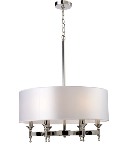 ELK 10162/6 Pembroke 6 Light 24 inch Polished Nickel Chandelier Ceiling Light photo