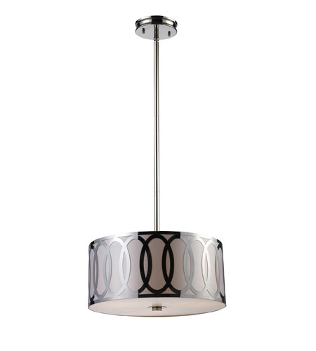 ELK Lighting Anastasia 3 Light Pendant in Polished Nickel 10173/3 photo