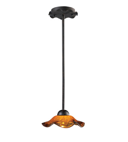 ELK Lighting Villa 1 Light Pendant in Weathered Rust 10181/1AMB photo