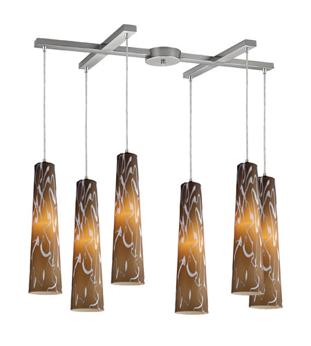 ELK Lighting Momentum 6 Light Pendant in Satin Nickel 10207/6SS photo