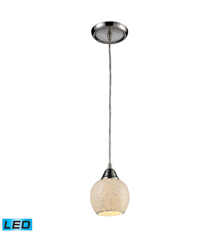 ELK Lighting Fission 1 Light Pendant in Satin Nickel 10208/1CLD-LED photo