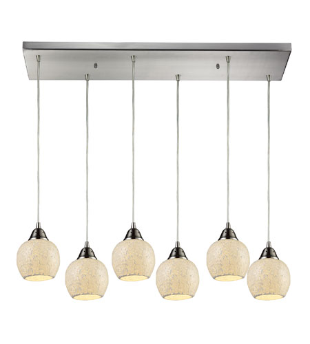 ELK Lighting Fission 6 Light Pendant in Satin Nickel 10208/6RC-CLD photo