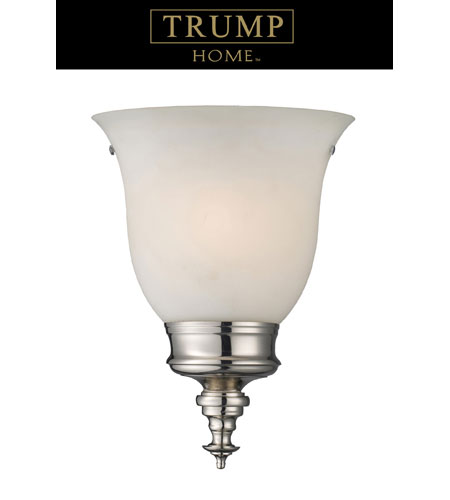 ELK 10211/1 TRUMP HOME CENTRAL PARK VARICK 1 Light 10 inch Polished Nickel Sconce Wall Light photo