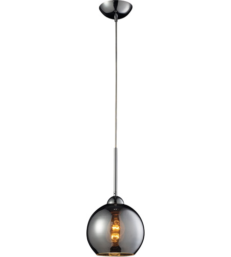 ELK 10240/1CHR Cassandra 1 Light 8 inch Polished Chrome Pendant Ceiling Light in Chrome Glass, Standard photo