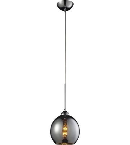Elk 102401chr cassandra 1 light 8 inch polished chrome pendant elk 102401chr cassandra 1 light 8 inch polished chrome pendant ceiling light in chrome aloadofball Images