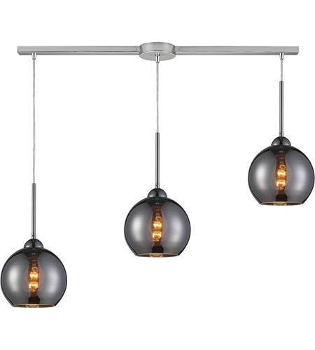 ELK 10240/3L-CHR Cassandra 3 Light 36 inch Polished Chrome Pendant Ceiling Light in Chrome Glass photo