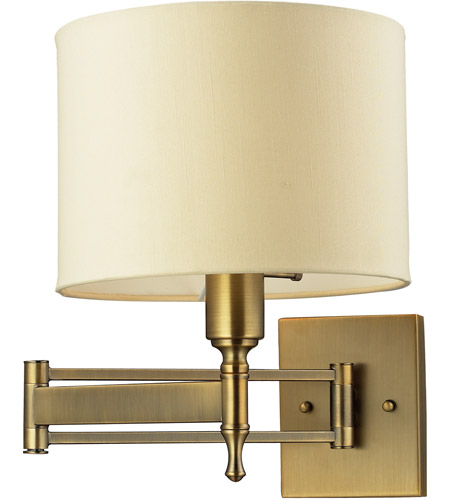 ELK 10260/1 Pembroke 26 inch 60 watt Antique Brass Swing Arm Wall Lamp Wall Light photo
