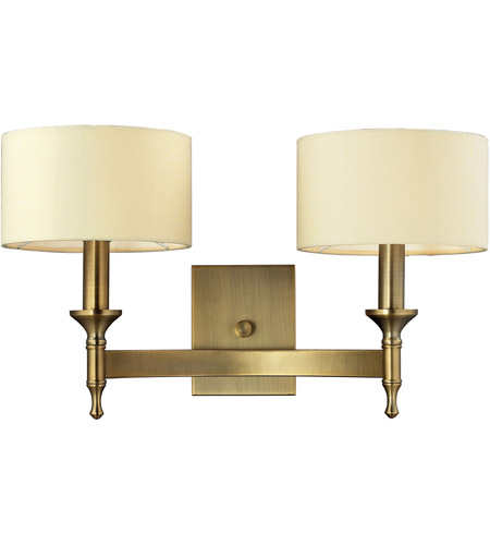 ELK Lighting Pembroke 2 Light Wall Sconce in Antique Brass 10261/2 photo