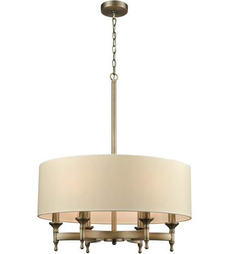 ELK 10264/6 Pembroke 6 Light 24 inch Brushed Antique Brass Chandelier  Ceiling Light - ELK 10264/6 Pembroke 6 Light 24 Inch Brushed Antique Brass