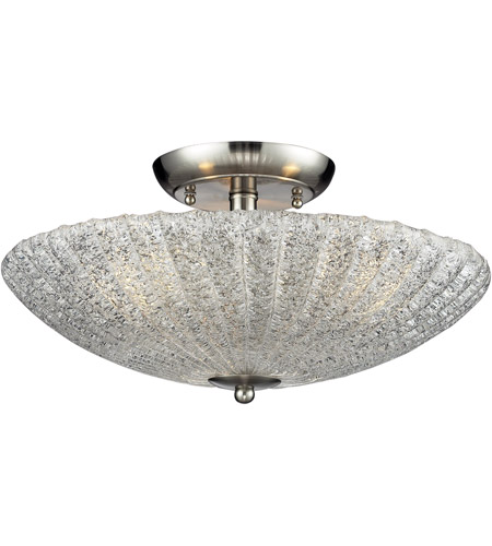 ELK 10271/3 Luminese 3 Light 16 inch Satin Nickel Semi-Flush Mount Ceiling Light photo