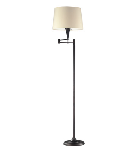 ELK Lighting Swingarms 1 Light Floor Lamp in Aged Bronze 10293/1
