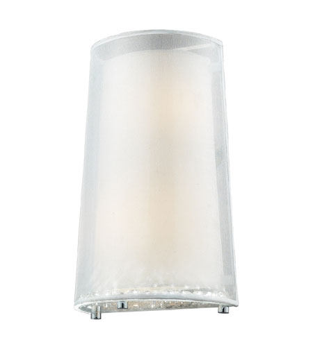 ELK Lighting Crystals 2 Light Wall Sconce in Polished Chrome 10300/2 photo