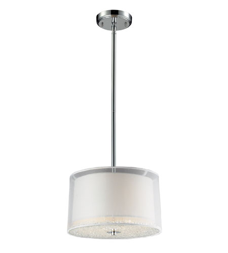 ELK Lighting Crystals 2 Light Pendant in Polished Chrome 10302/2 photo