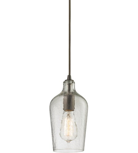 Elk Lighting Amazon: ELK 10331/1CLR Hammered Glass 1 Light 5 Inch Oil Rubbed