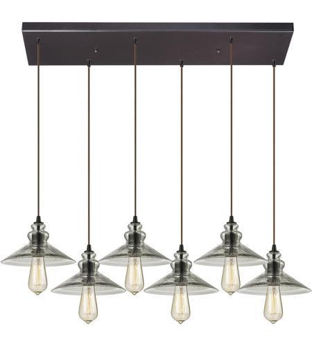 elk 103326rc hammered glass 6 light 30 inch oil rubbed bronze chandelier ceiling light