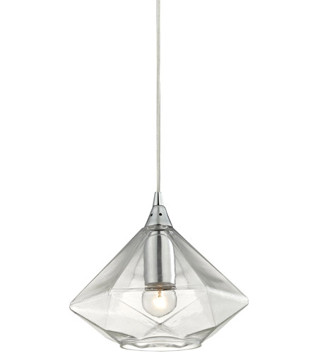 ELK 10440/1 Geometrics 1 Light 9 inch Polished Chrome Pendant Ceiling Light photo