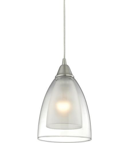 Elk 104641 layers 1 light 6 inch satin nickel pendant ceiling light aloadofball Choice Image