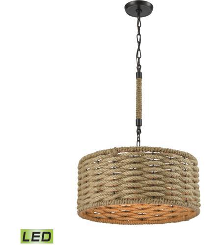 elk 107113led weaverton led 19 inch oil rubbed bronze chandelier ceiling light
