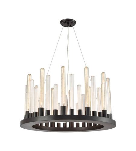 elk glass skyline 12 light 27 inch oil rubbed bronze chandelier ceiling light