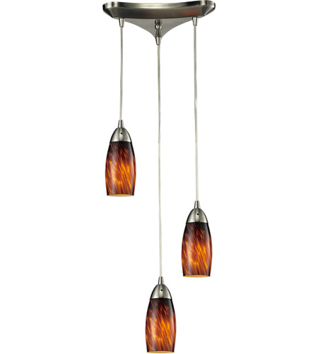 ELK Lighting Milan 3 Light Pendant in Satin Nickel 110-3ES photo