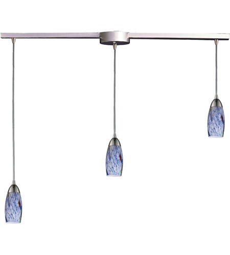 ELK Lighting Milan 3 Light Pendant in Satin Nickel 110-3L-BL photo