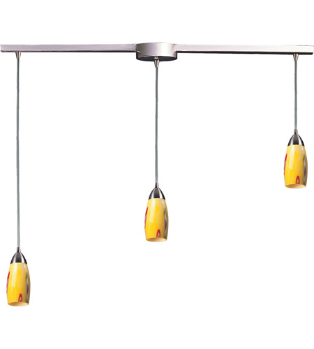 ELK Lighting Milan 3 Light Pendant in Satin Nickel 110-3L-YW photo